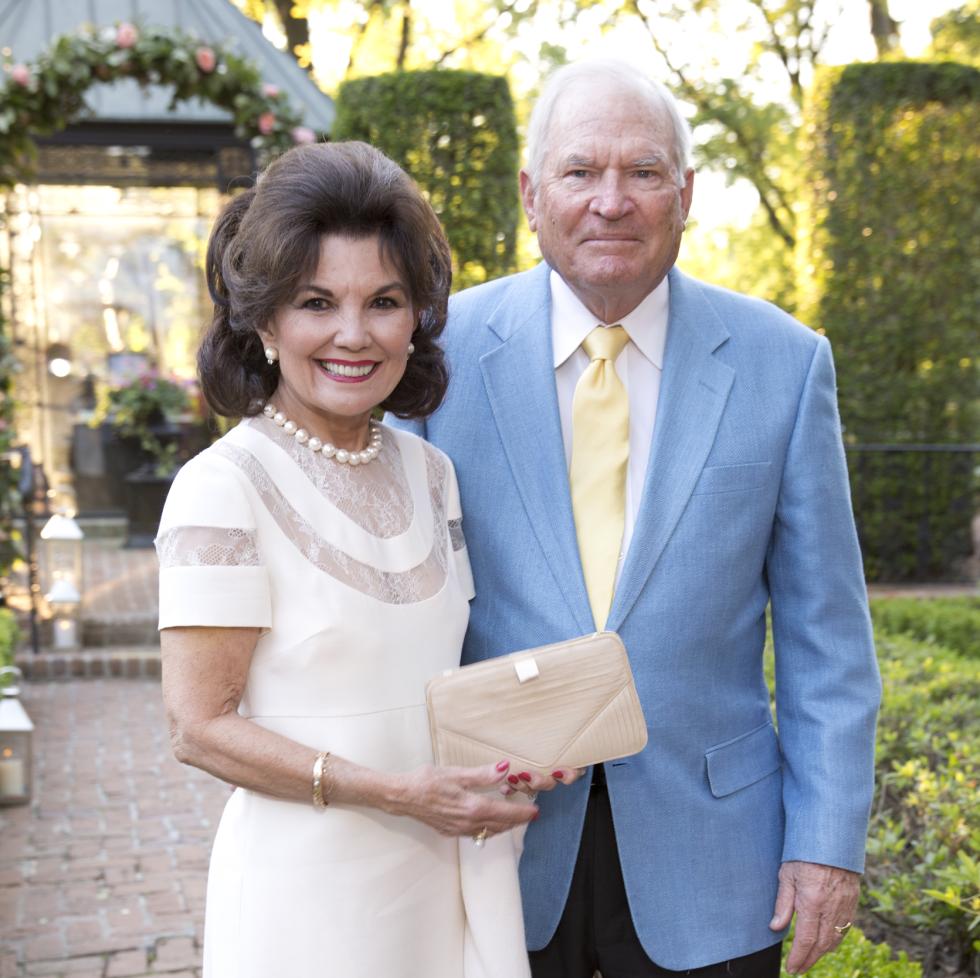 Bayou Bend Garden Party, April 2016, Linda McREynolds, Dr. Walter McReynolds