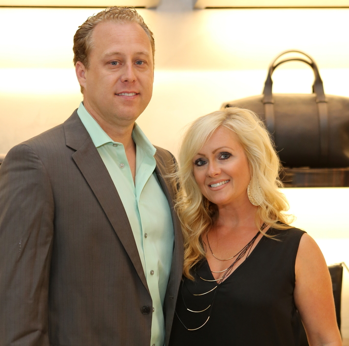 Chad Gonsoulin, Jenny Gonsoulin at Blue Cure party at Tom Ford