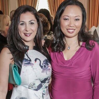 Deborah Elias, Miya Shay at Passion for Fashion luncheon