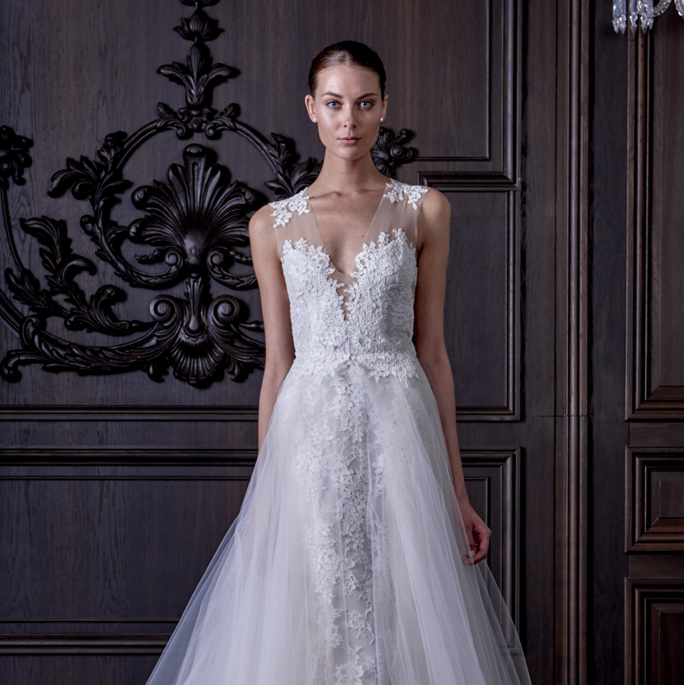 L'Amour wedding dress Monique Lhuillier