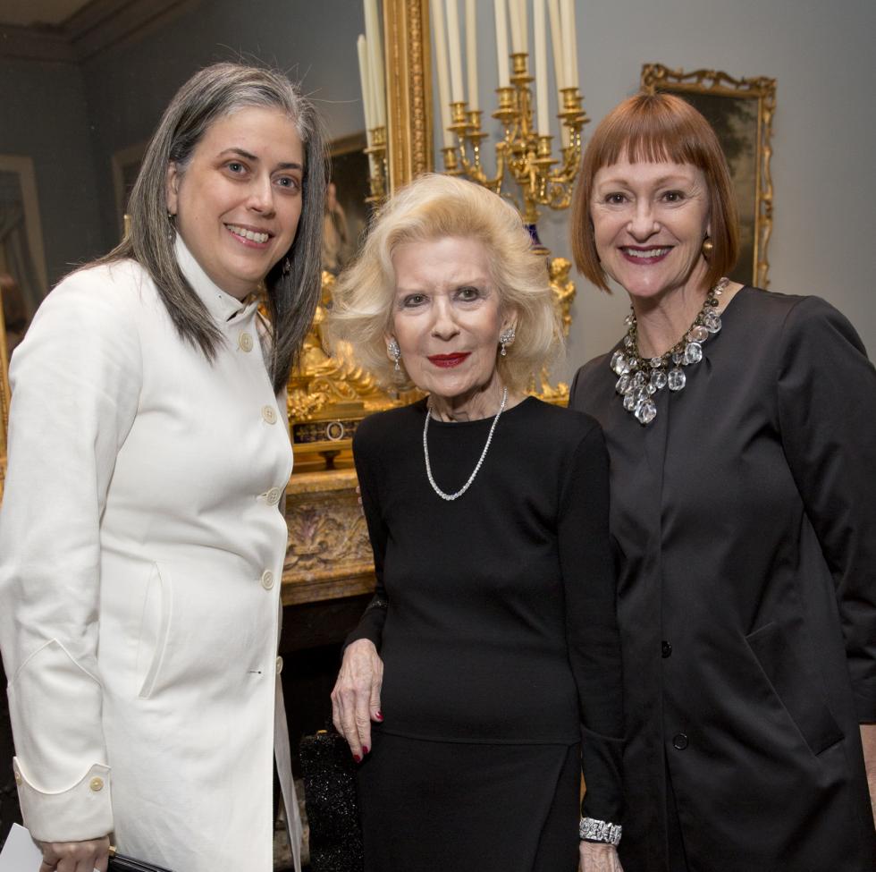 Rienzi society dinner, Feb. 2016, Christine Gervais; Carolyn Rosenstock-Ellis; Valerie Greiner