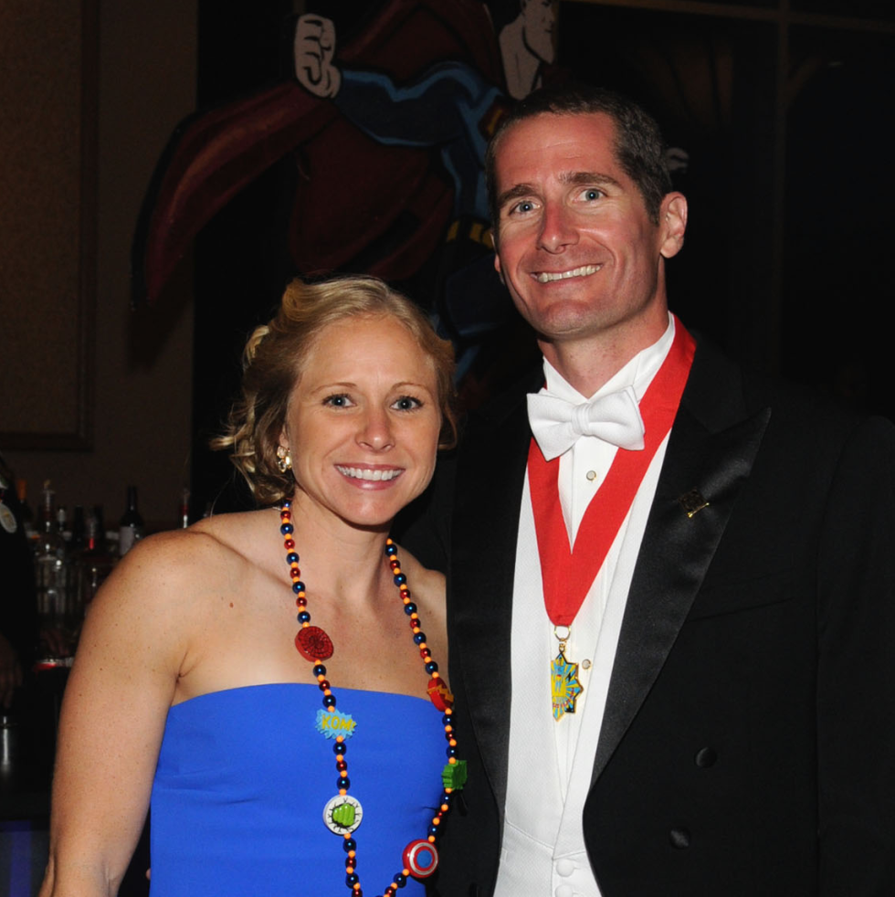Knights of Momus Ball, Feb. 2016, Kara Mullins, John Paul Listowski