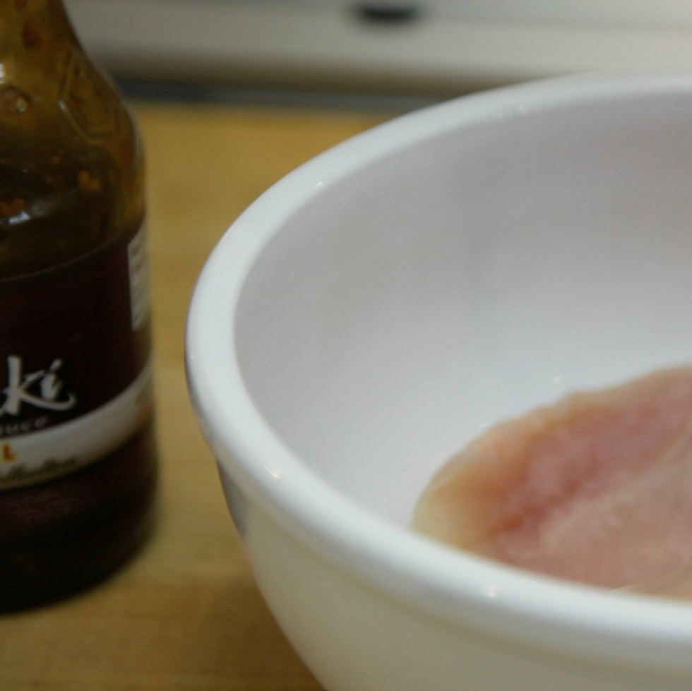 Raw chicken in a bowl