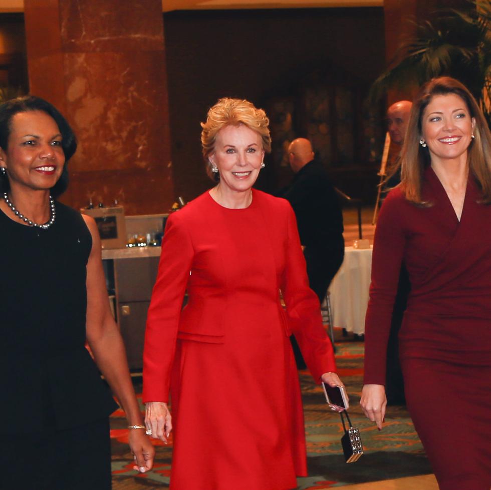 Condoleezza Rice, Ashley Rankin, Norah O'Donnell