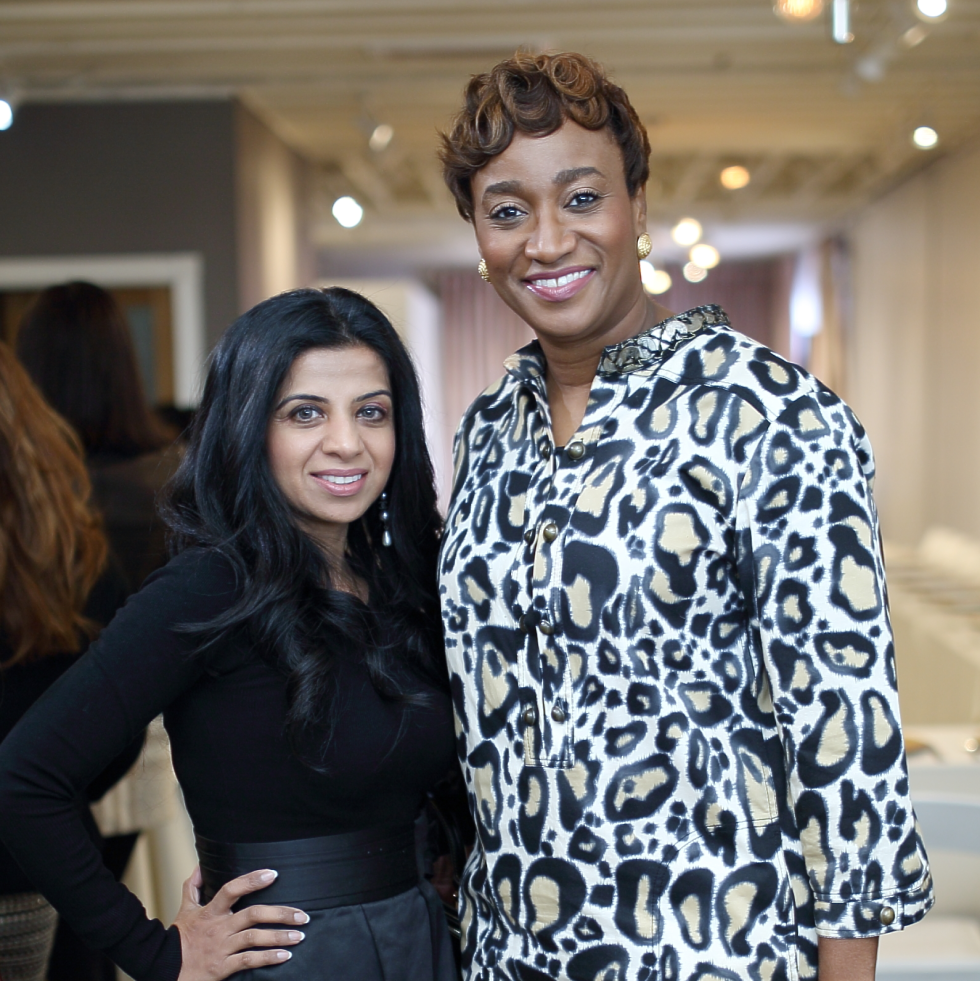 Farida Abjani, Andrea Bonner at Miles David fashion show
