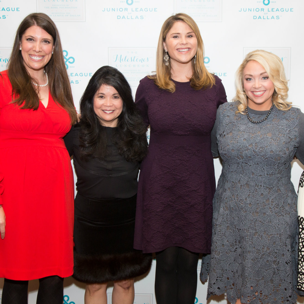 Andrea Cheek, Nancy Gopez, Jenna Bush Hager, Meredith Mosley, Hollee Hirzel