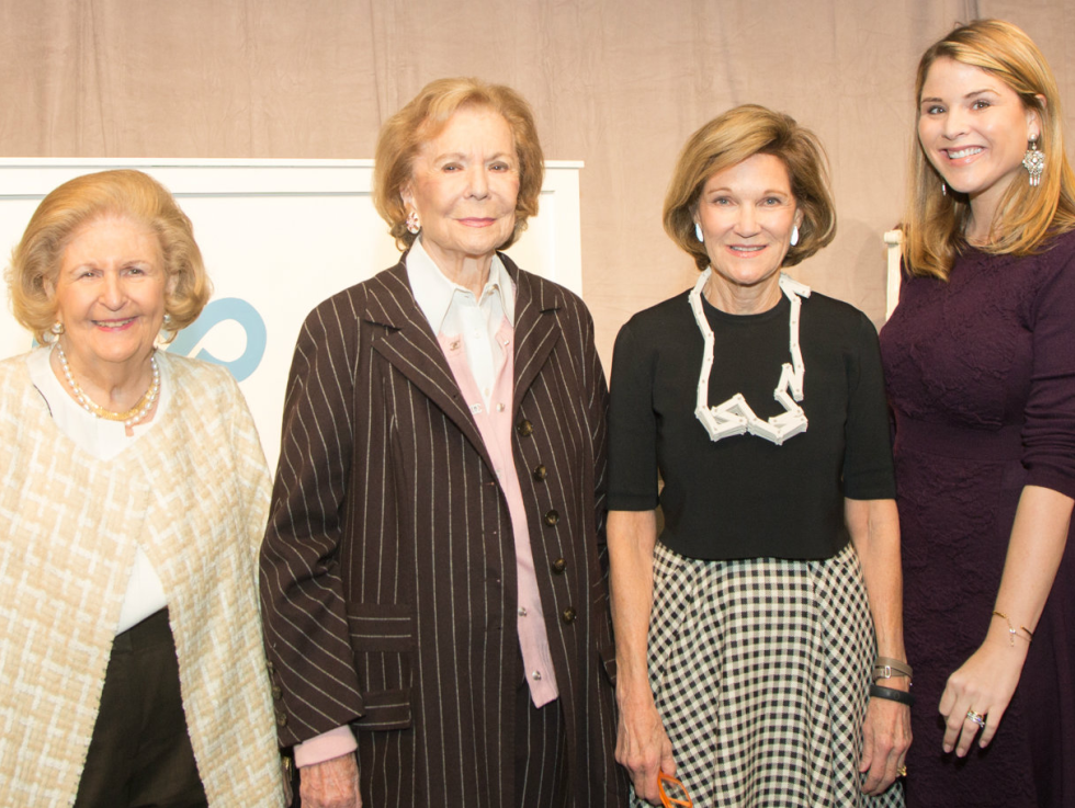 Lindalyn Adams, Ruth Altshuler, Deedie Rose, Jenna Bush Hager