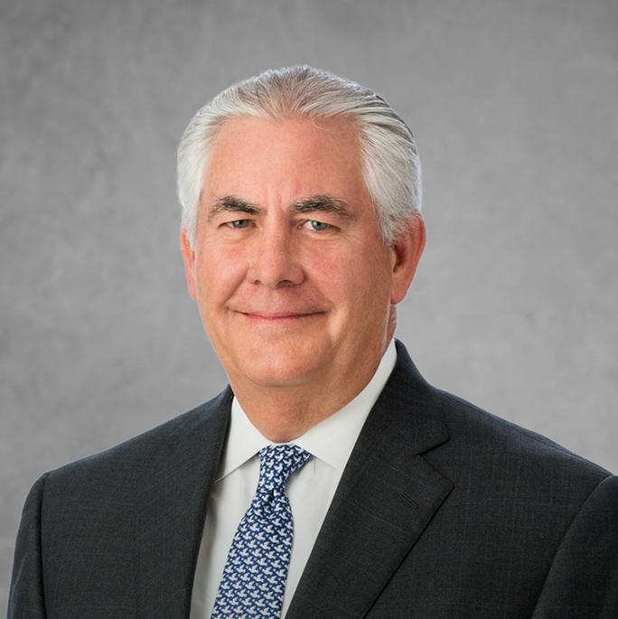 ExxonMobil CEO Rex Tillerson