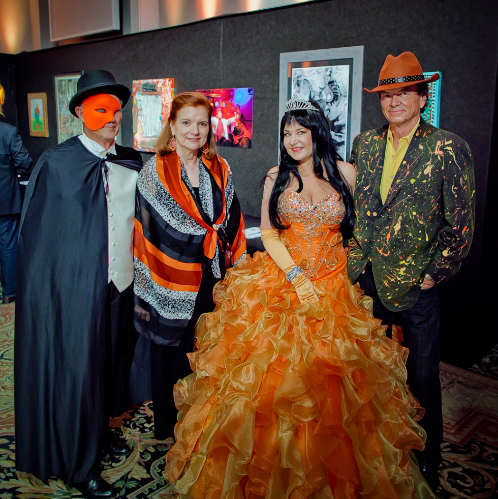 Orange Show Gala Ed Smith, Beverley Braden, Pamela George, Paul Easterwood