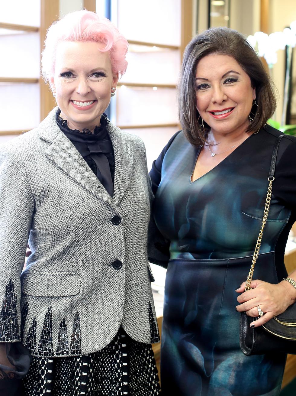 Houston, Una Notte kickoff party, October 2015, Vivian Wise, Debbie Festari