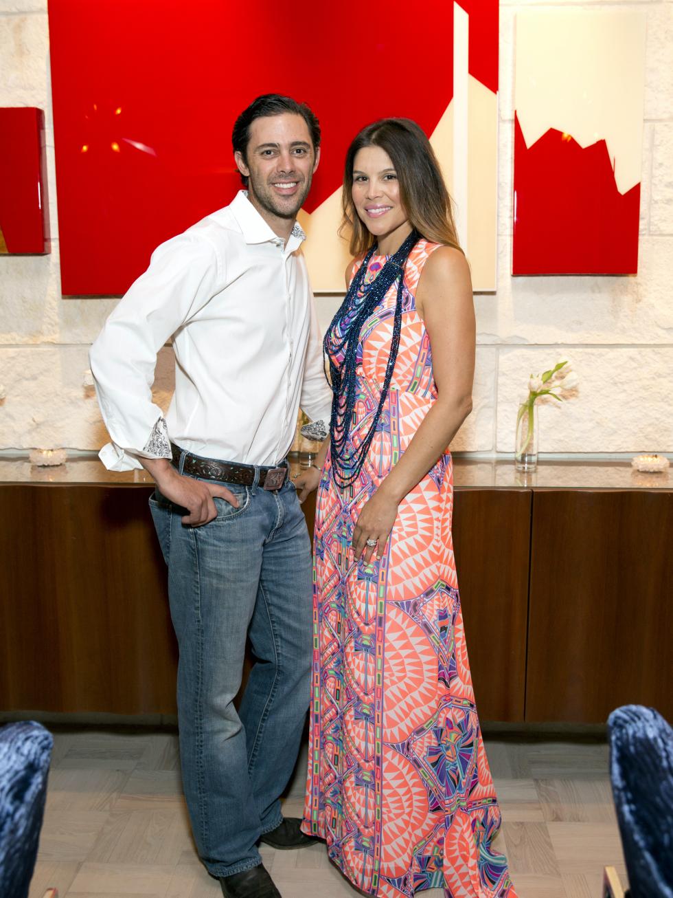 Houston, Casa Dragones launch party, October 2015, David and Estela Cockrell