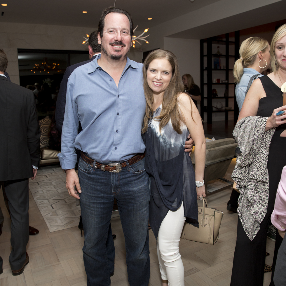 Houston, Casa Dragones launch party, October 2015, Alan and Luba Bigman