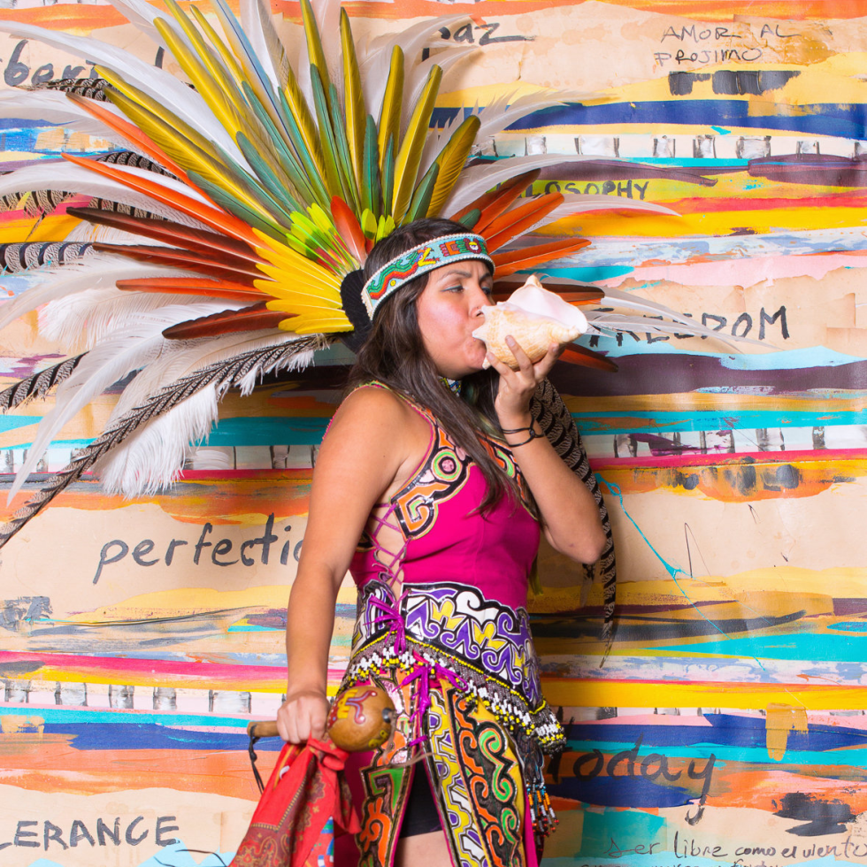 News, Shelby, Pedro Abasolo fashion show, Oct. 2015, Aztec dancer,