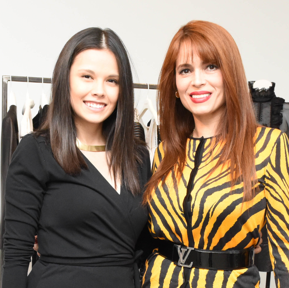 Monica Abney and Karina Barbieri at Dress for Dinner Recipe for Success event with Lucy Sykes