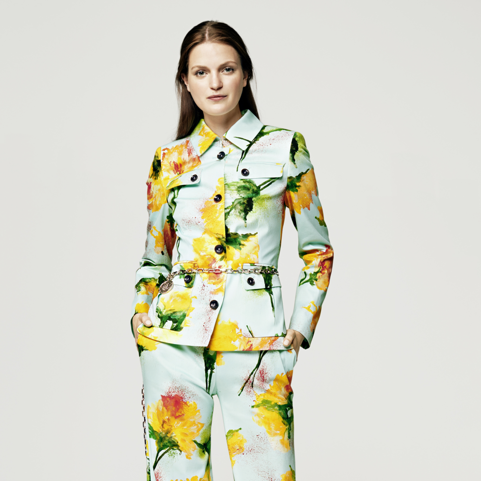 Escada spring summer look 1 at Elizabeth Anthony September 2015