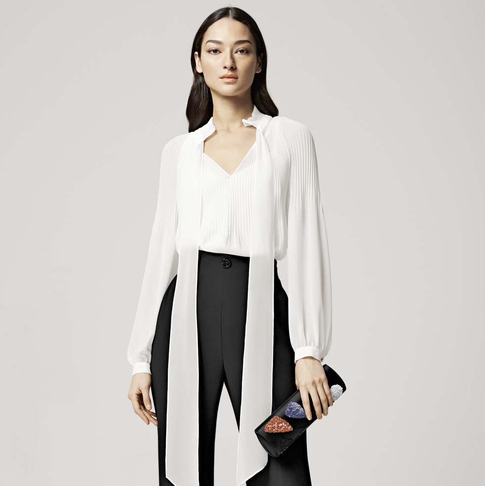 Escada resort look 2 at Elizabeth Anthony September 2015