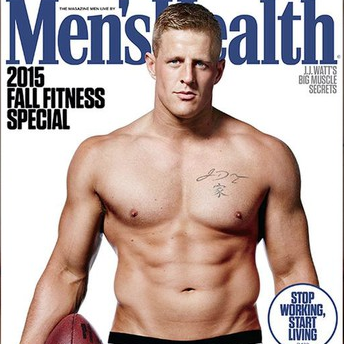 Houston, Men's Health Cover, September 2015, J.J. Watt