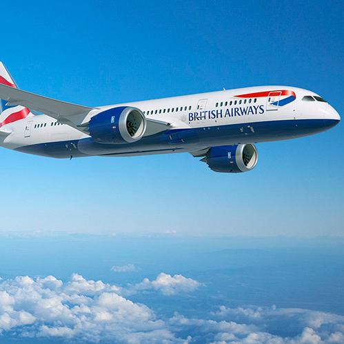 British Airways Boeing 787-9 Dreamliner airplane flight 2015