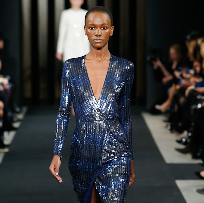J Mendel fall 2015 collection sequined dress