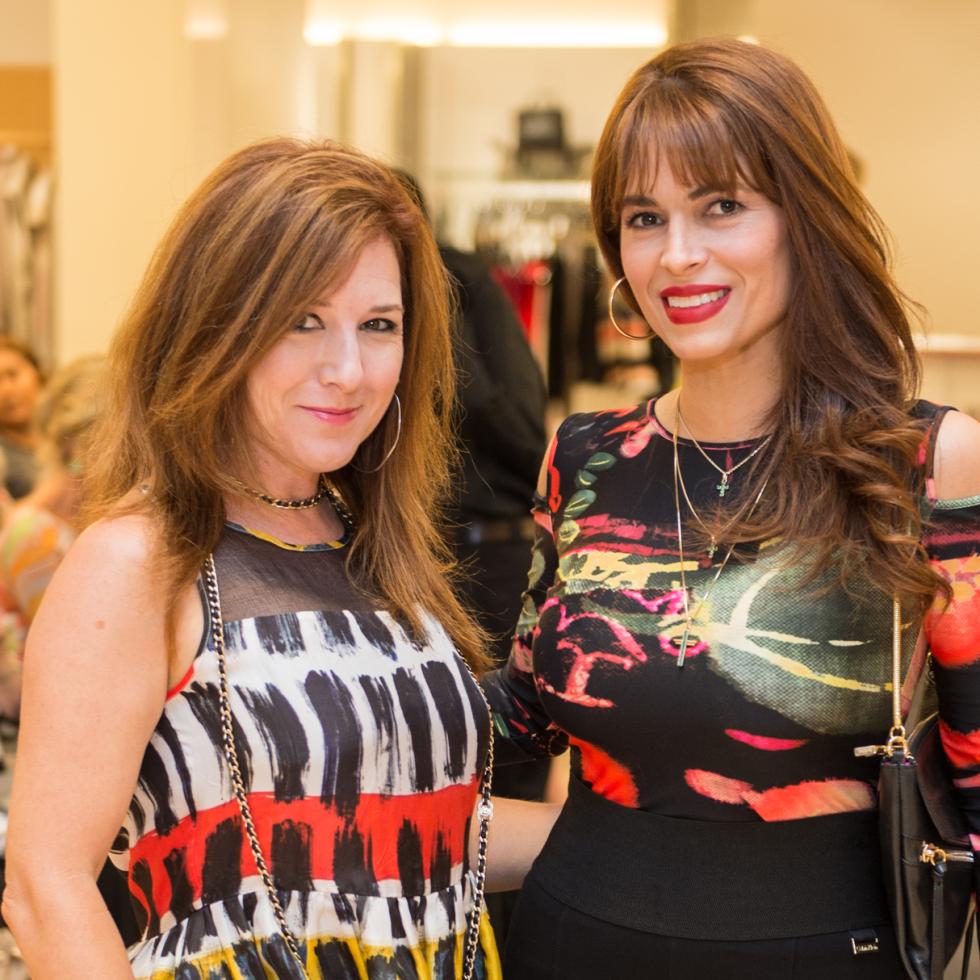 Donae Chramosta and Karina Barbieri at Neiman Marcus Trend Event