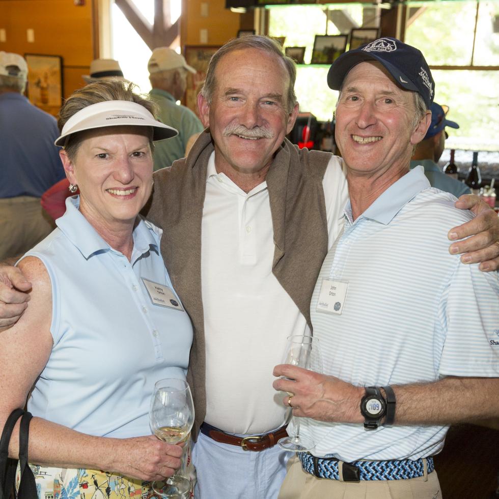 Houston Methodist in Aspen, July 2015, Kathy Orton, Marty Goossen and John Orton