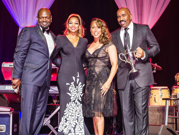 Emmitt & Pat Smith, Marjorie & Steve Harvey