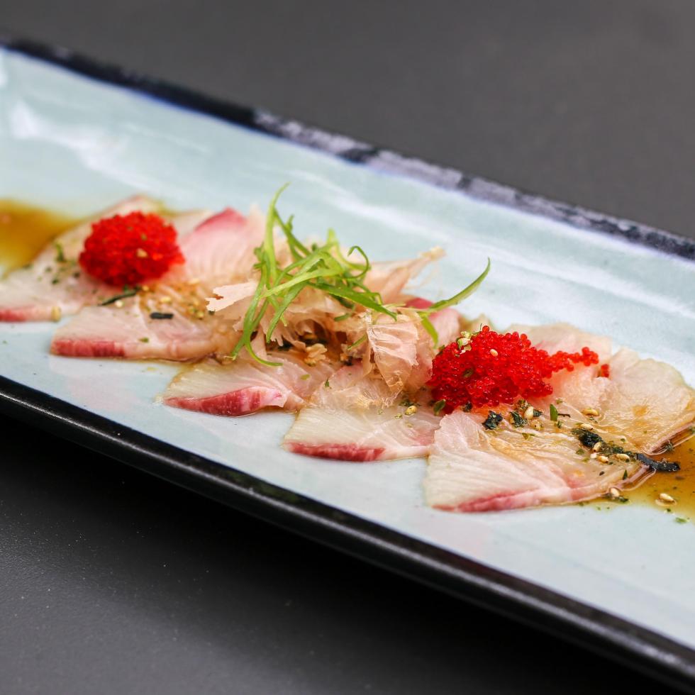 Hanzo hamachi sashimi