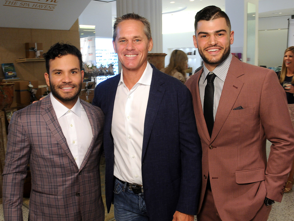 Houston, Lance McCullers Jr. and José Altuve Team Up For Kids and K9s, May 2017, Jose Altuve, Craig Biggio, Lance McCullers Jr.