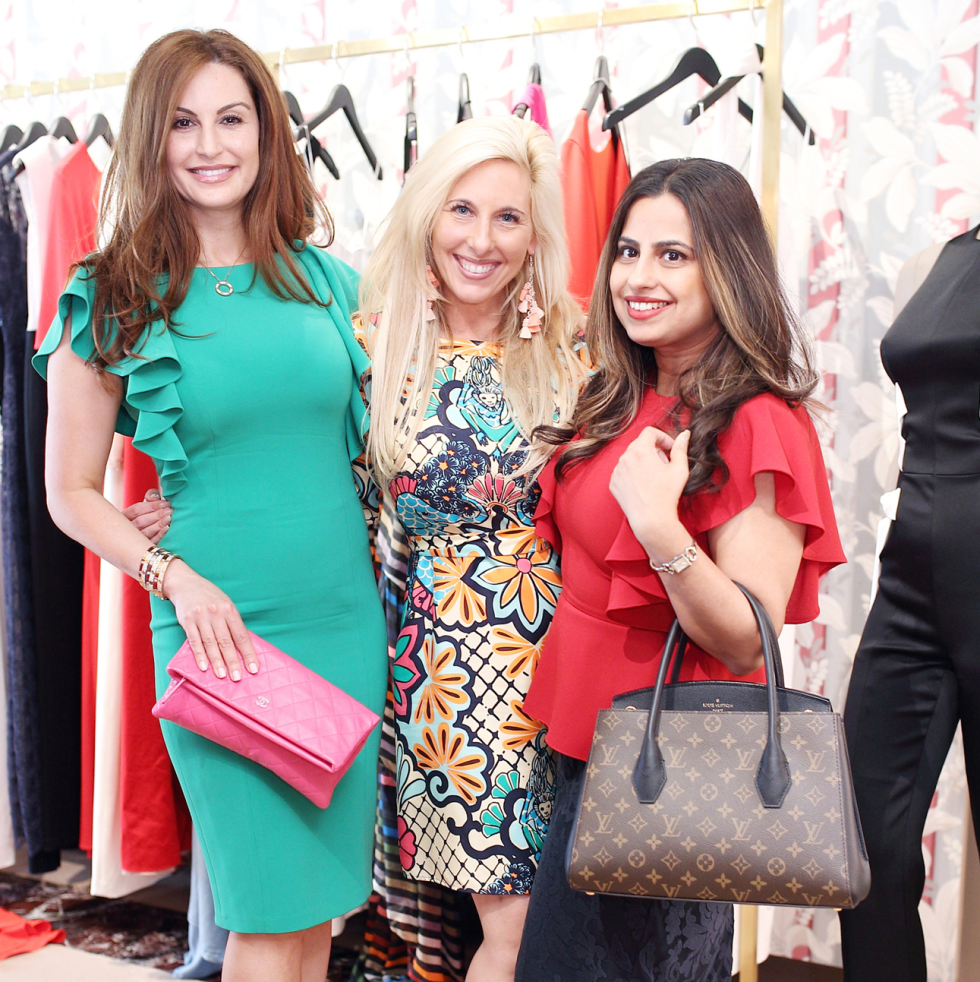 Brigitte Kalai, Tracey Faulkner, Ruchi Mukherjee at The Webster party