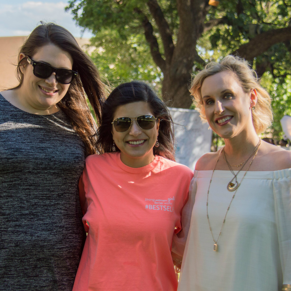 Julie Kursh, JLD 95th Anniversary Committee Member Shivangi Pokharel Perkins and Kate McCoy