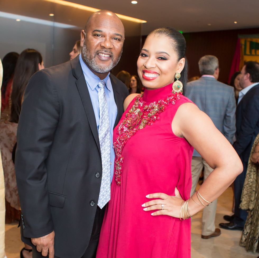 Keith McWilliams, Shawntell McWilliams at International Mother's Day Soiree Kickoff party