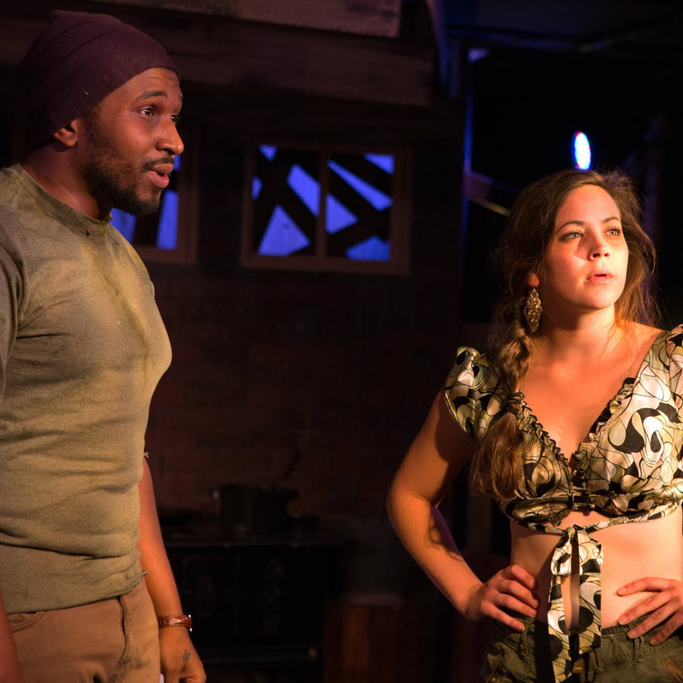 Jamall Houston and Madison Hart in The Bird at Theatre Too