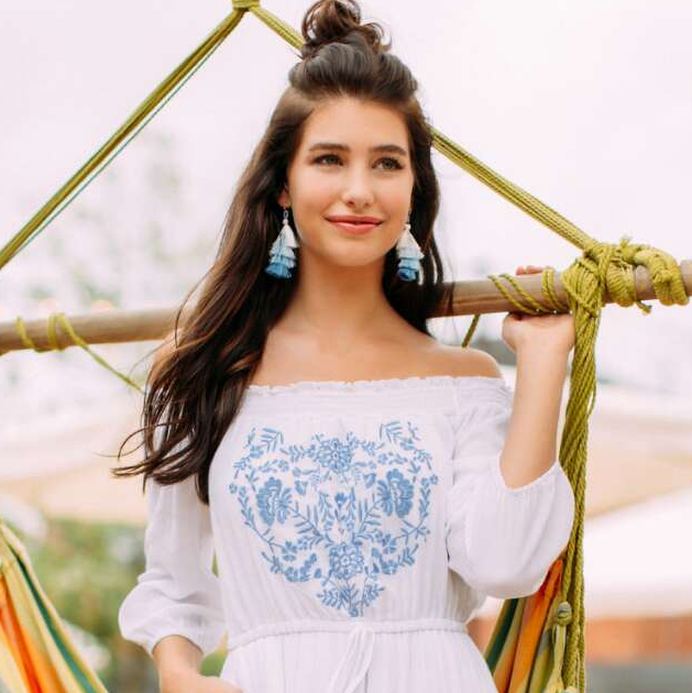 Whitlee Floral Embroidered Romper