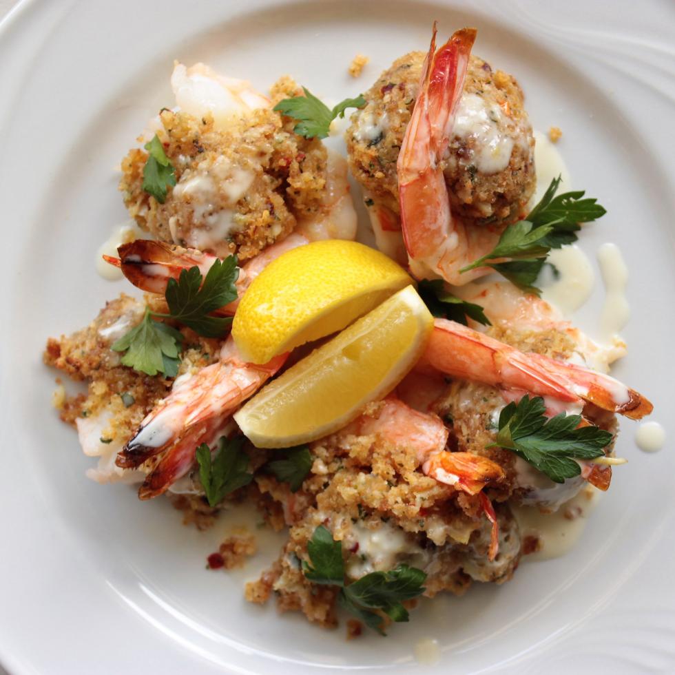 Juliet Italian Kitchen stuffed shrimp oreganata