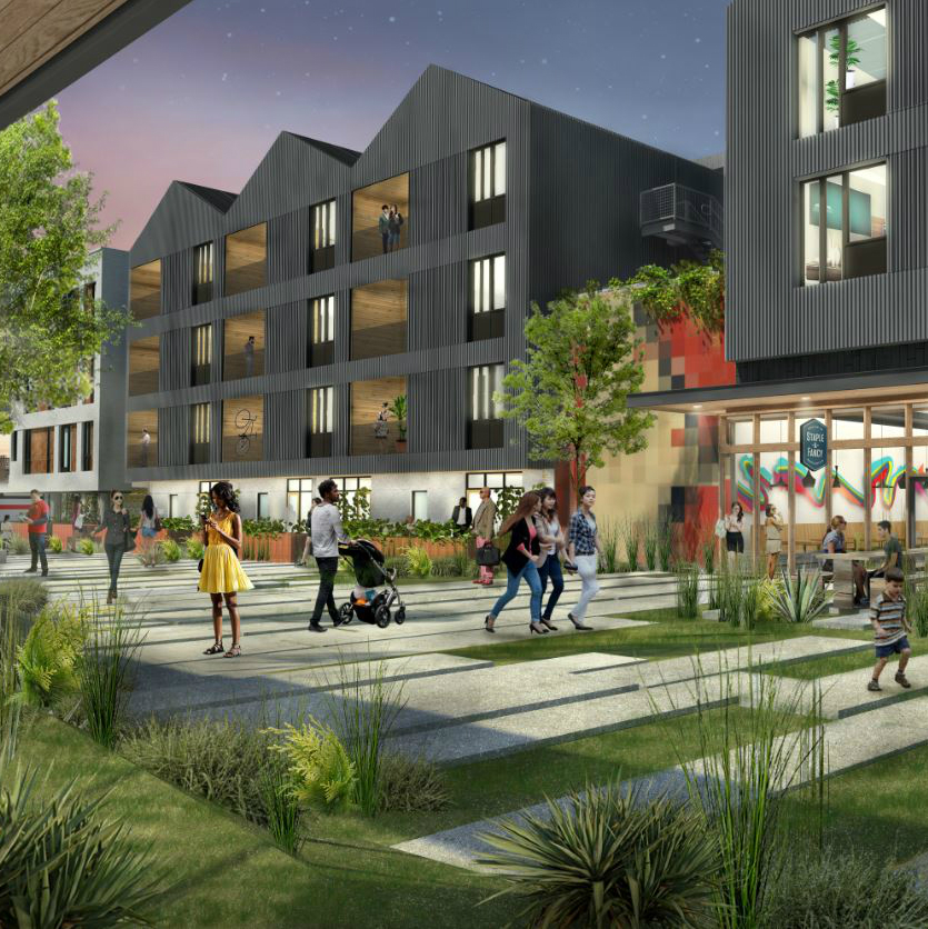 Plaza Saltillo District East Austin Capital Metro paseo rendering