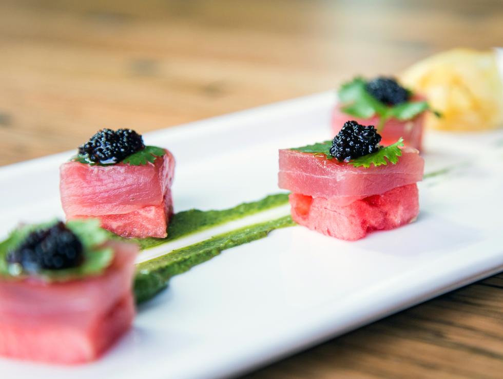 Houston, a bouzy, august 2017 watermelon tuna sashimi