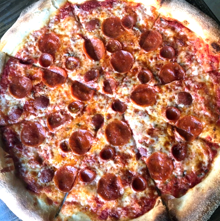 Pizaro's New York style pizza double pepperoni