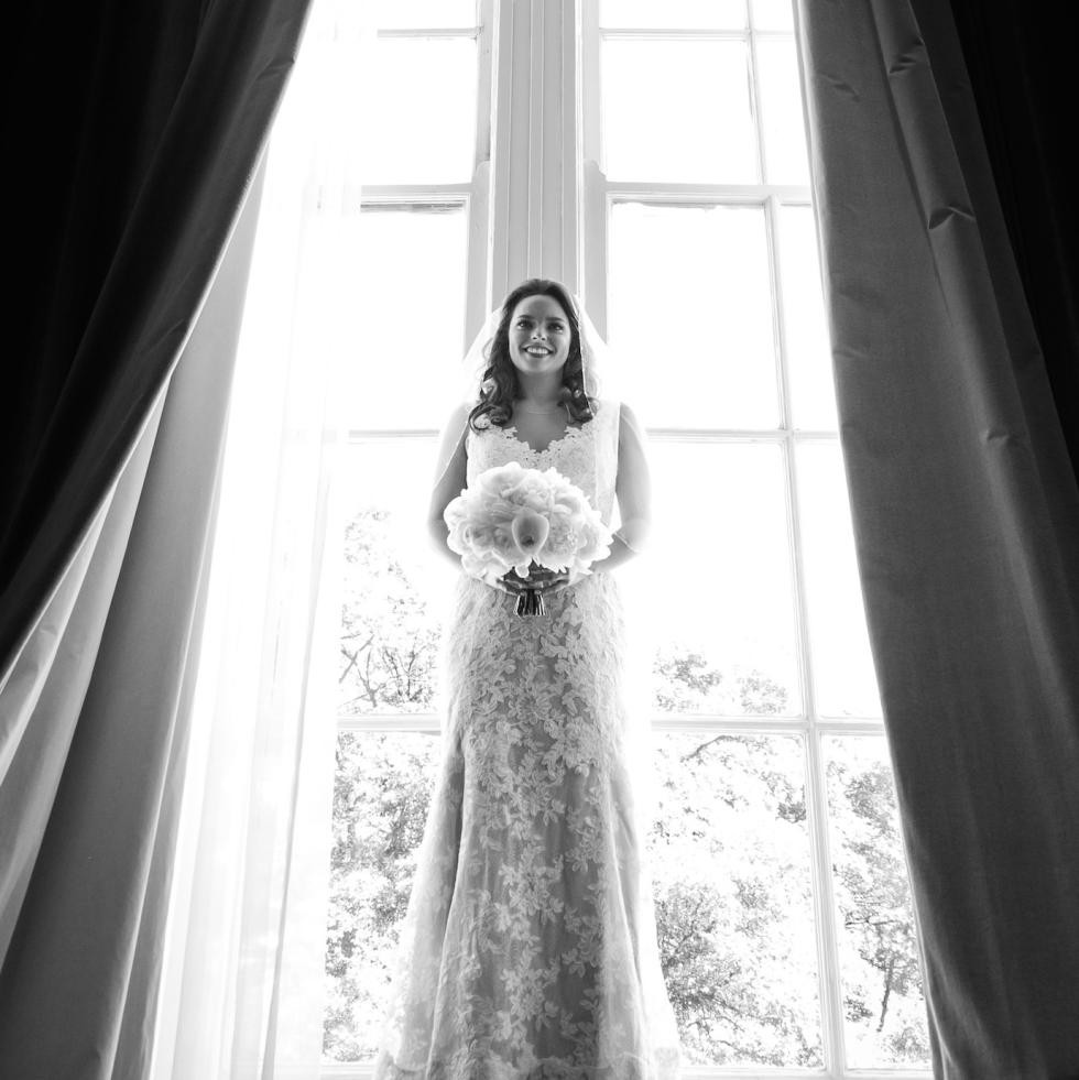 Monica Kitt Wedding, BW portrait