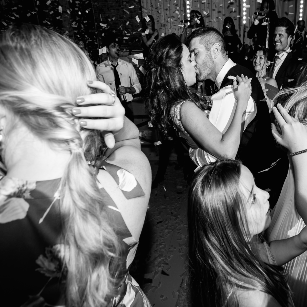 Monica Kitt wedding, confetti