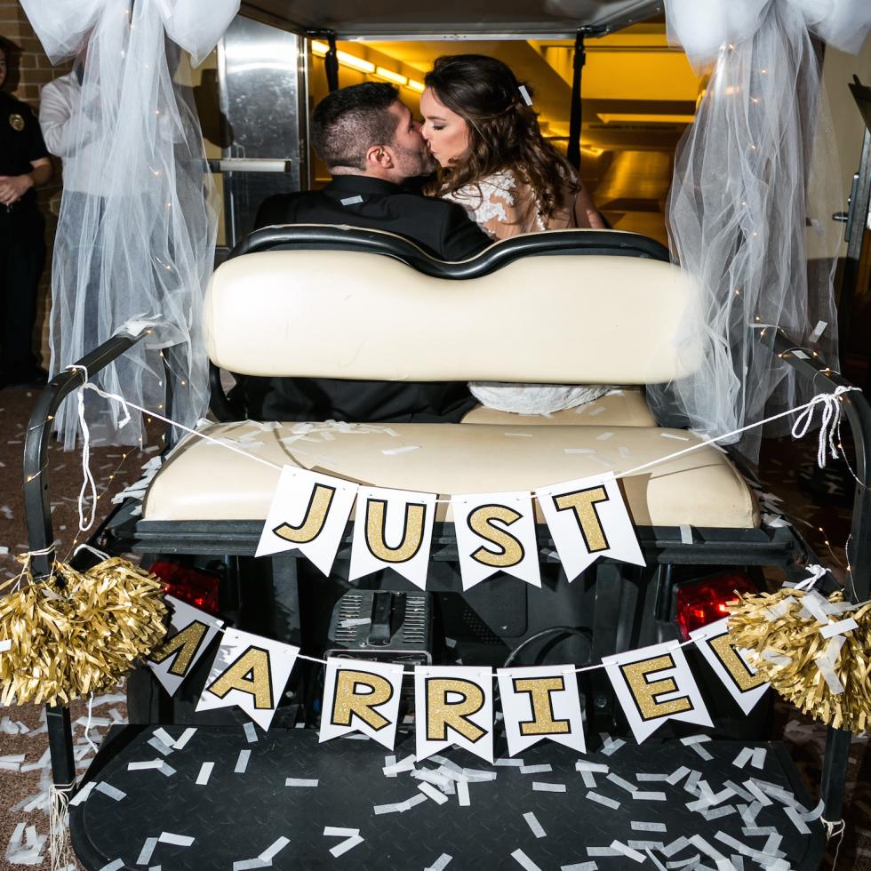 Monica Kitt wedding, just married