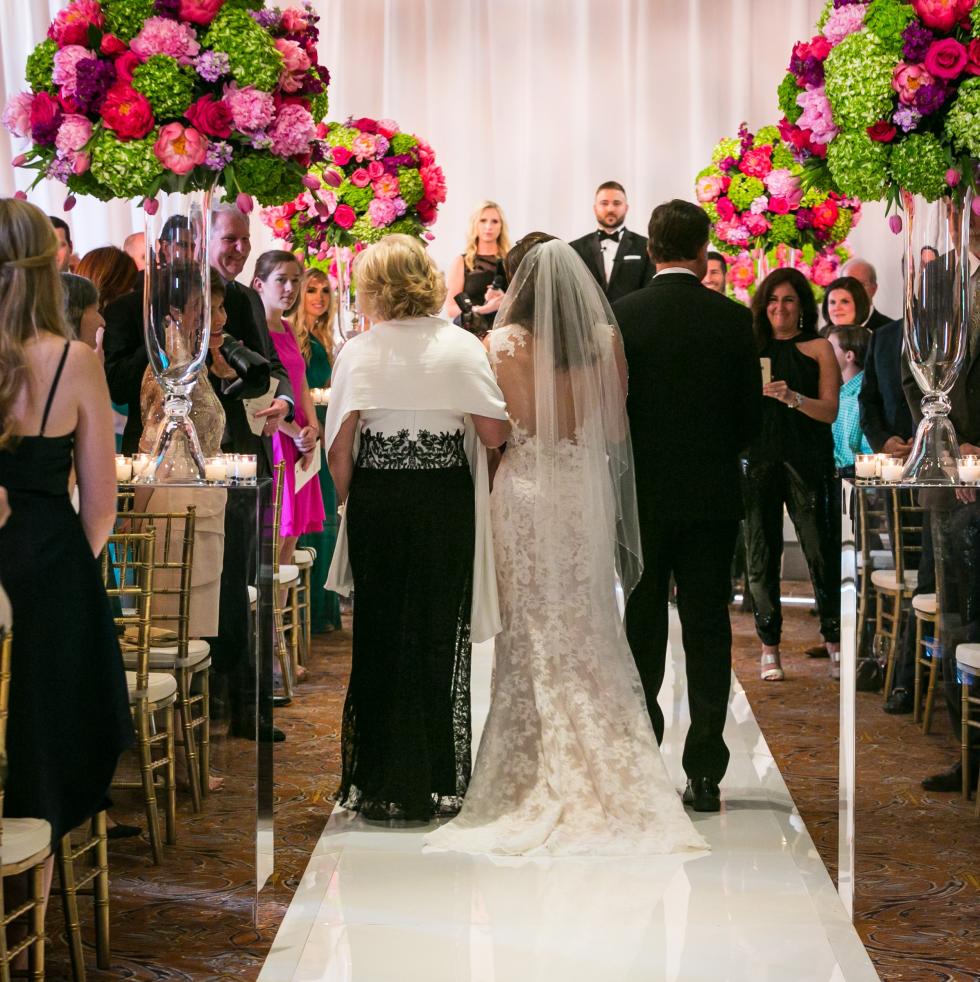 Monica Kitt wedding aisle walk