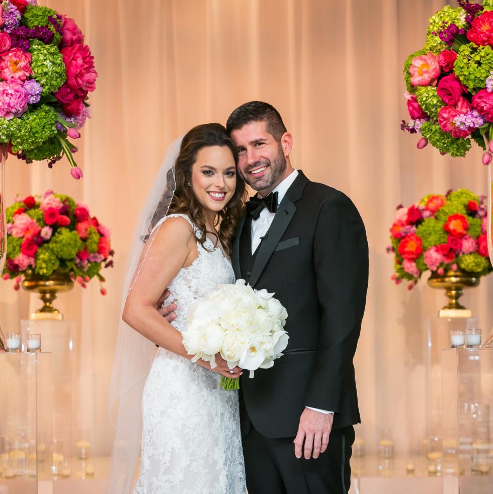 Monica Kitt Wedding, Bride and Groom