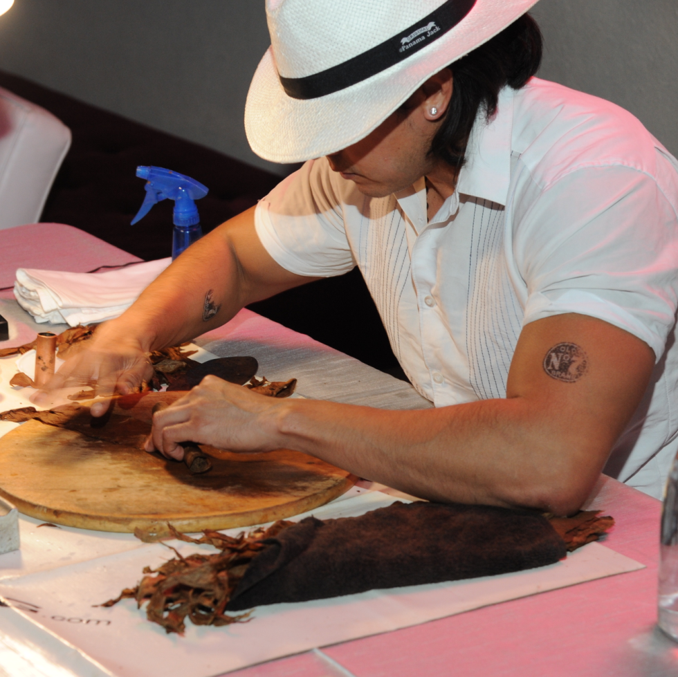 Cigar rolling and lounge at Miami Vice Children's Museum Gala