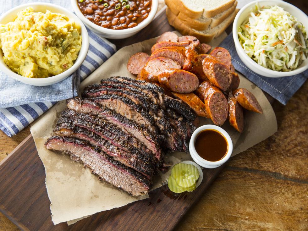 Houston, Pappas Bar-B-Q, October 2017, Brisket, sausage and sides
