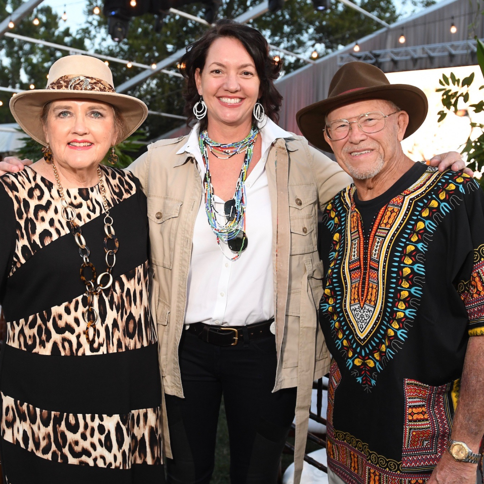 Michelle Beale, Laura Huffman, Richard Anderson at Nature Conservancy Gala
