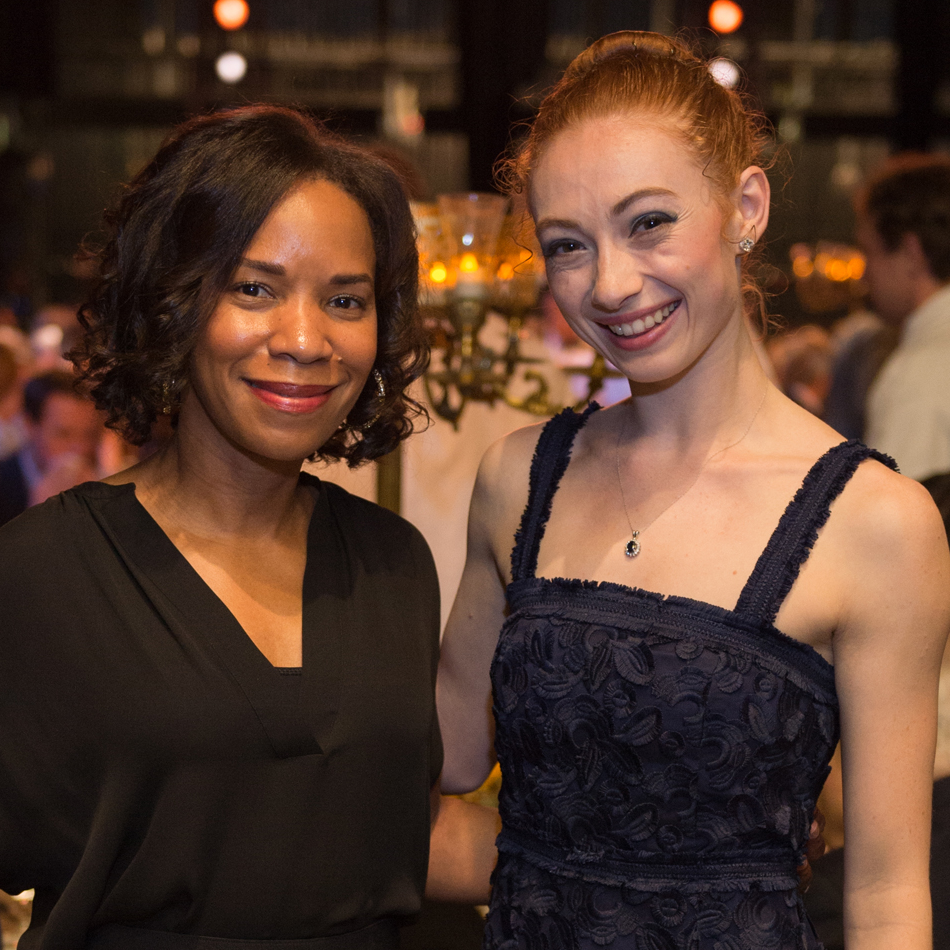 Gillian Hobson, Alyssa Springer at Houston Ballet Opening Night DInner