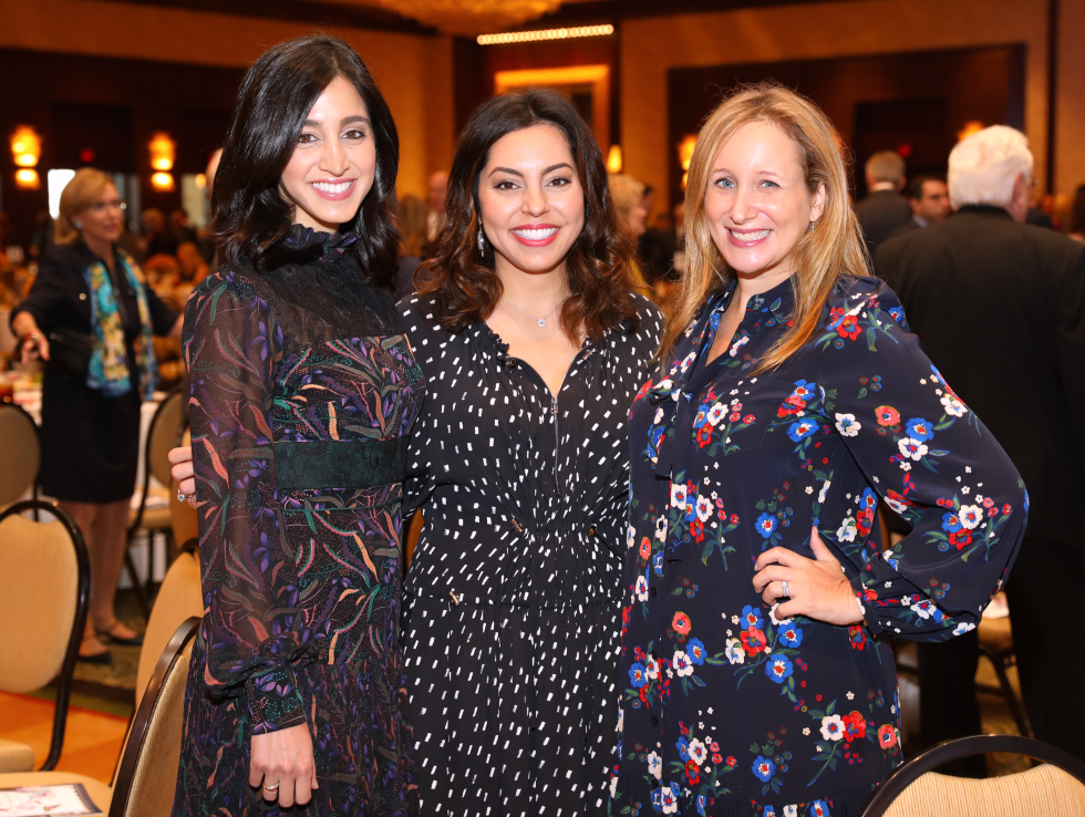 Houston, University of Texas at Austin Guardian of the Human Spirit Award Luncheon, November 2017, Holly Radom, Nicole Katz, Erin Slosberg