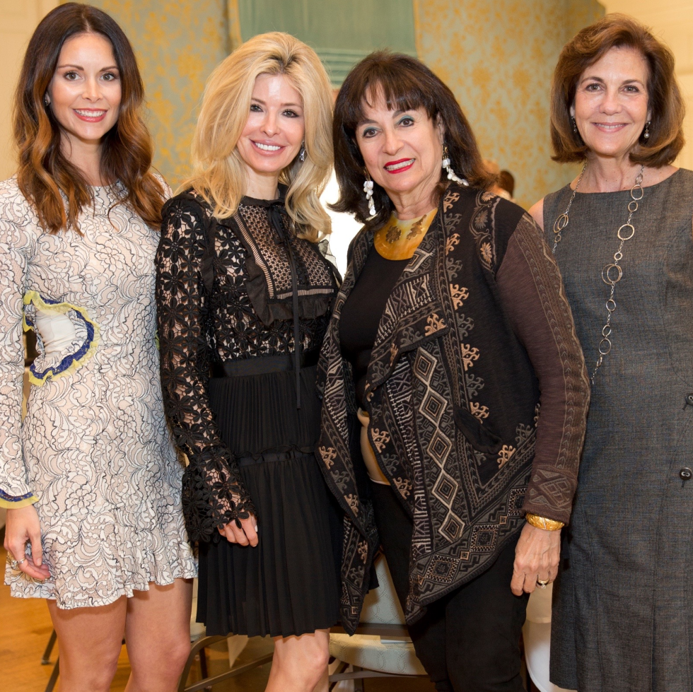 Art of Conversation, chairs Karli Gillum, Nancy Marcus Golden, honoree Mady Kades and chair Jereann Chaney