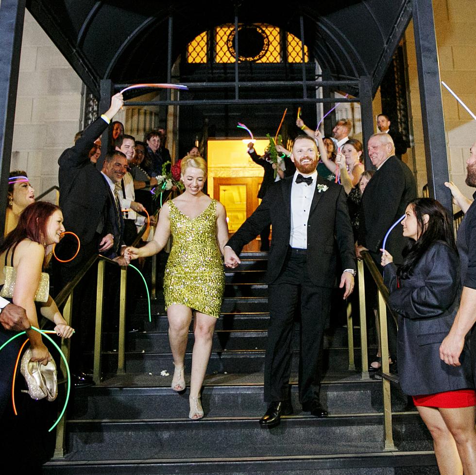 Womack wedding, exit