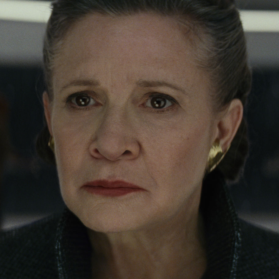 Carrie Fisher in Star Wars: The Last Jedi
